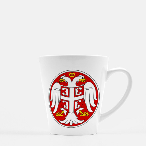 Serbian Coat of Arms Coffee Latte Mug