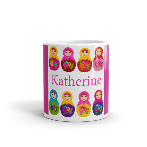 Personalized Coffee Mug: Russian Matryoshkas