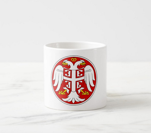 Ceramic 6 oz. Mini Mug: Serbian Coat of Arms