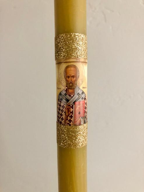 Serbian Slava Candle: St. Nicholas (Sveti Nikola)