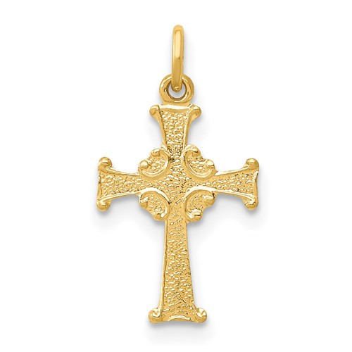 14KT 4C's Cross- Tiny- 3/4""
