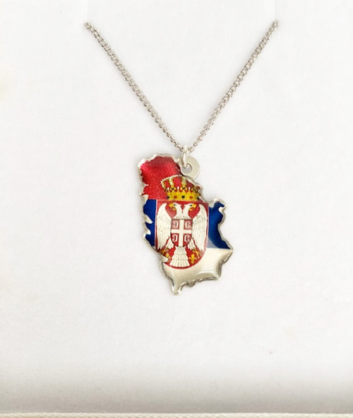 Kosovo is Serbia Pendant with Necklace