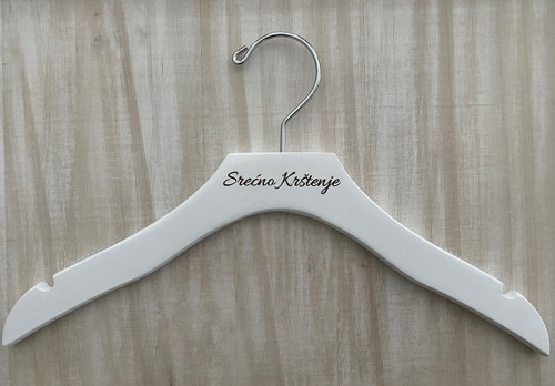 White Wooden Hanger- Personalized