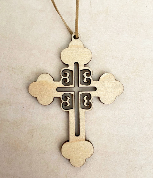 4Cs Serbian Style Cross- Wooden