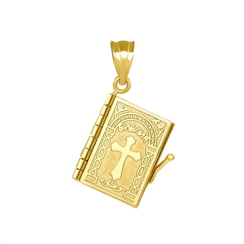 14KT Russian Synodal Bible Pendant