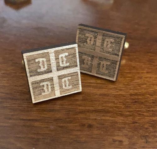 Serbian 4C's Wooden Cufflink Set
