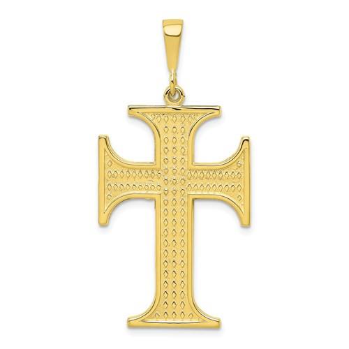 """10KT Justinian Cross- 1 3/4"""""""