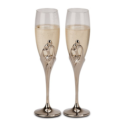 Nickel-plated Embrace Flutes- Set of 2