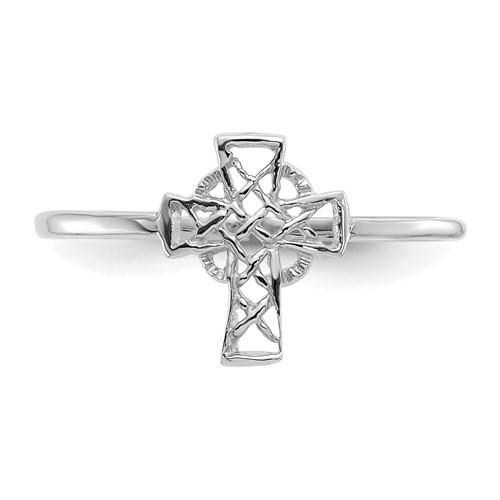 14KWG Polished Celtic Cross Ring