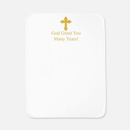 Baby/Toddler Printed Baptismal Towel: English
