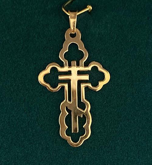 "Orthodox Cross Outline Cross- 1 1/4"""