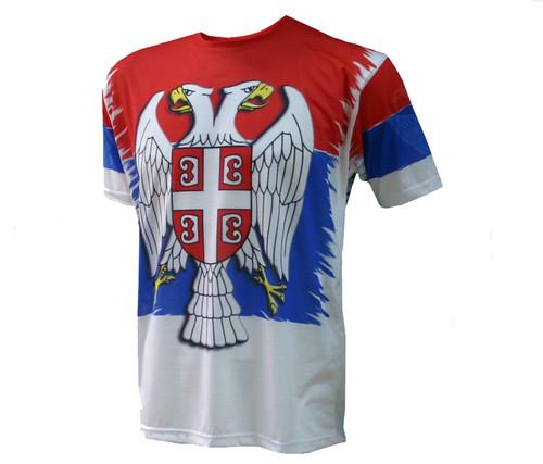 Men's Serbian Flag Jersey