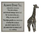 Always Stand Tall Charm