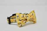 Dog Collar-Buzzing Bees Bowtie