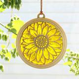"""Sunflower Suncatcher-Yellow- 6"""""""