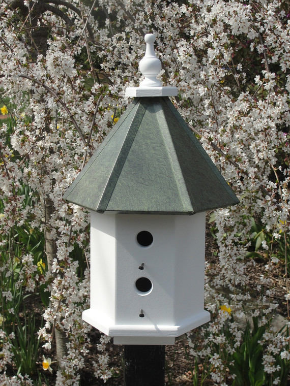 The Beacon Birdhouse-Patina Roof