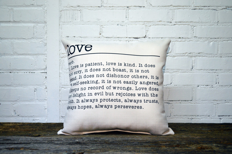 Love Definition Pillow