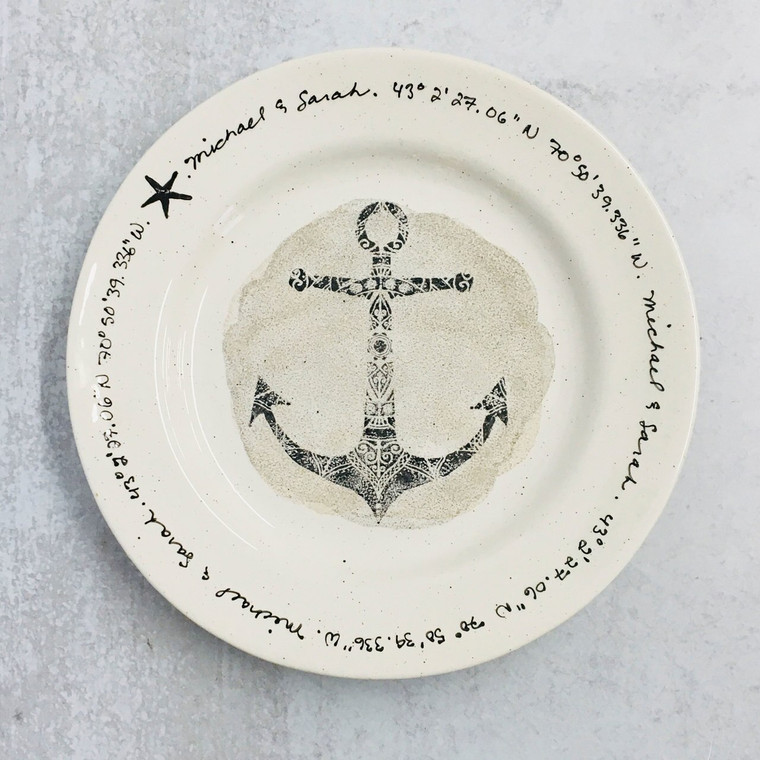 Anchor Wedding Plate
