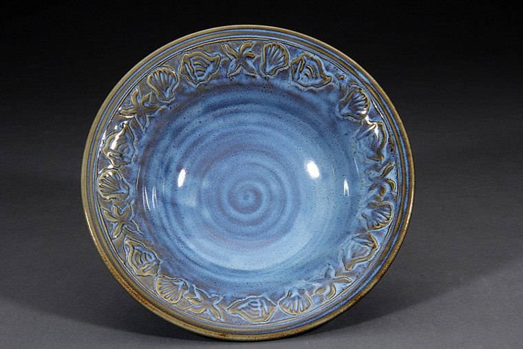 Serving Bowl-Denim glaze-medium