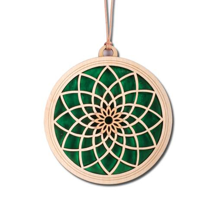 "Dahlia Suncatcher-Emerald- 6"""