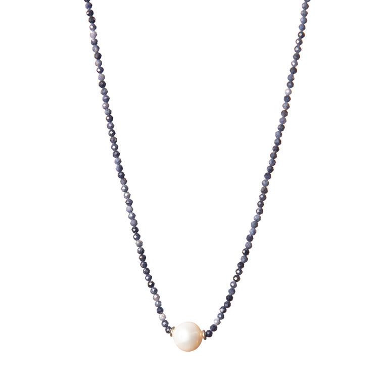 Freshwater Pearl Necklace-Sapphire