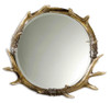 uttemost Stag Horn Round Decorative Wall Mirror sale