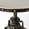 "Element Antiqued Nickel Industrial Crank Side Table 22"""