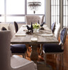 Rustic double pedestal dining table