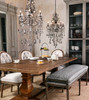"""Durham Natural Rustic Reclaimed Wood Double Trestle Dining Table 110"""""""