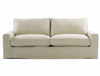 """Casual 83"""" Linen Upholstered Sofa"""