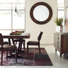 Mimi Biker Tan brown leather dining chairs