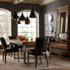 Mimi Saddle Black leather dining room chairs