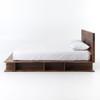 Bonnie Rustic Reclaimed Wood Queen Platform Bed Frame