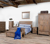 Sierra Reclaimed Solid Wood King Size Platform Bed Frame
