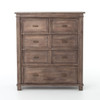 Sierra Reclaimed Wood Chest of 7 Drawers Cabinet