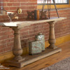 salvaged wood rustic console table