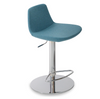 Pera Piston Stool - Turquoise Camira Wool