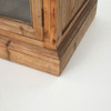 French Casement Monaco Reclaimed Wood Cabinet with Glass Doors