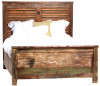 Vintage Reclaimed Wood Shabby Chic King Size Bed