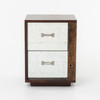 Bina James Reclaimed Wood Mirrored Nightstand-Right