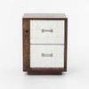 Bina Reclaimed Wood Mirrored Nightstand - Left