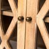 Somerset Solid Wood Large 4- Glass Door Sideboard