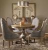 "Sylvana Pine Wood Round Pedestal Table 42"""
