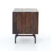 Nash Industrial Reclaimed Wood & Steel Side Table