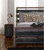 Nash Industrial Reclaimed Wood King Size Platform Bed