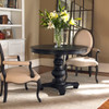 Brynmore Solid wodd black round pedestal table sale