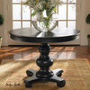 Brynmore black round pedestal accent table 42""