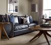 Larkin 3 Seater Vintage Black Distressed Leather Sofa
