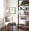 Monroe Light Grey Leather Accent Slipper Chair