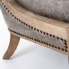 Kensington Monroe Occasional Chair-Light Grey Leather